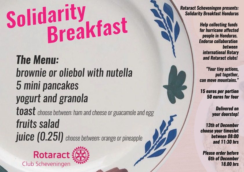 Solidarity breakfast: Order now and help people in need!